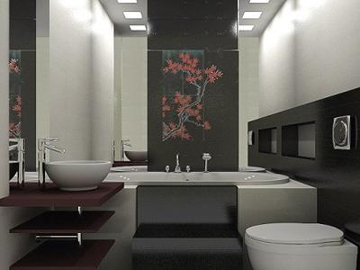 фото ванная в японском стиле