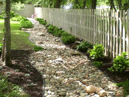 Дренаж участка и садовых дорожек